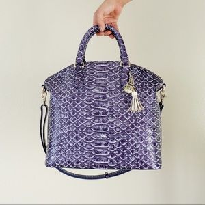 Brahmin Large Duxbury Satchel in Denim Del Ray